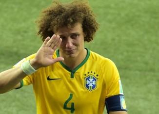 David Luiz en pleurs