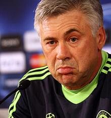 Carlo Ancelotti chances compliquees
