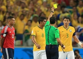 Thiago Silva carton jaune